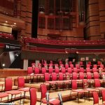 Conference Theatre hall red chairs